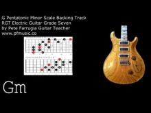 Embedded thumbnail for Guitar Backing Track G Pentatonic Minor Scale (and D Whole Tone Scale) - Grade Seven