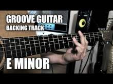 Embedded thumbnail for Groove Guitar Backing Track In E Minor (Music Video)