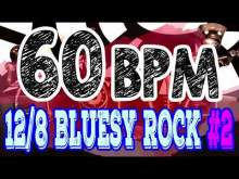 Embedded thumbnail for 60 BPM - Blues Rock Shuffle #2 - 12/8 Drum Track - Metronome - Drum Beat