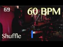 Embedded thumbnail for 60 BPM Shuffle Beat - Drum Track