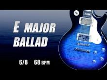 Embedded thumbnail for Backing Track Guitar Slow Emotional Ballad E major