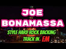 Embedded thumbnail for Joe Bonamassa Style Hard Rock Backing Track Em