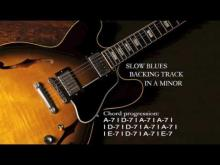 Embedded thumbnail for Blues Backing Track in A Minor