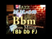 Embedded thumbnail for Bbm Minor (Bb Db F) - Jazz - M.M.=140 - One Chord Backing Track