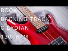 Embedded thumbnail for Rock Guitar Backing Track | C Lydian (130 Bpm)