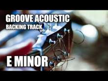 Embedded thumbnail for Groove Acoustic Guitar Backing Track In Em