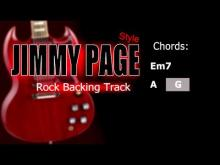 Embedded thumbnail for Rock Jimmy Page Style Guitar Backing Track 86 Bpm Highest Quality