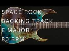 Embedded thumbnail for Space Rock Guitar Backing Track | E Major (80 Bpm)