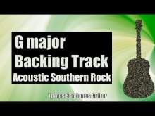 Embedded thumbnail for G major Backing Track - Acoustic Southern Rock Guitar Jam Backtrack