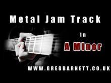 Embedded thumbnail for Metal Backing Track | A Minor/Aeolian | Greg Barnett
