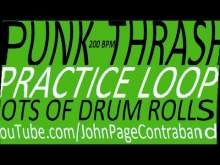 Embedded thumbnail for Punk Thrash Practice Drum Loop Heavy on the Fills D Beat 200 bpm