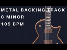 Embedded thumbnail for Metal Guitar Backing Track | C Minor (105 Bpm)