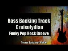 Embedded thumbnail for Bass Backing Track E mixolydian - Funky Pop Rock Groove - NO BASS - Chords - Scale - BPM