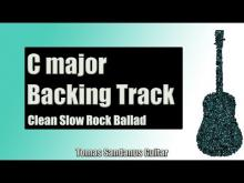 Embedded thumbnail for Backing Track in C Major Slow Rock Ballad with Chords and C Major Pentatonic Scale