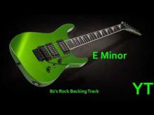 Embedded thumbnail for 80s Rock Guitar Backing Track E Minor