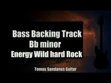 Embedded thumbnail for Bass Backing Track - B flat minor - Bb - Energy Wild Hard Rock - NO BASS - Chords - Scale - BPM