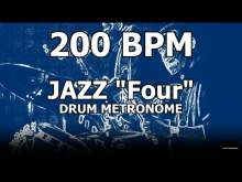 """Embedded thumbnail for Jazz """"Four""""   Drum Metronome Loop   200 BPM"""