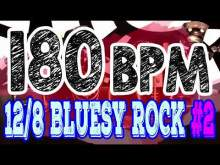 Embedded thumbnail for 180 BPM - Blues Rock Shuffle #2 - 12/8 Drum Track - Metronome - Drum Beat