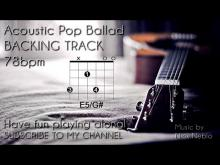 Embedded thumbnail for Backing Track Acoustic Guitar - Slow Ballad