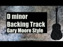 Embedded thumbnail for Gary Moore Style Backing Track in D minor - Rock Ballad Guitar Backtrack - Chords  Scale  BPM