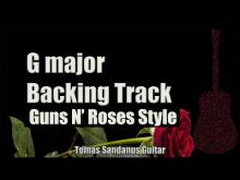 Embedded thumbnail for Guns N Roses Style Backing Track in G Major - Metal Power Ballad Guitar Backtrack - Chords Scale BPM