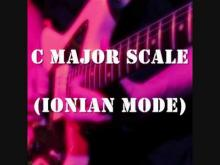 Embedded thumbnail for C Major Scale (Ionian Mode) - Groovy Uptempo Backing Track