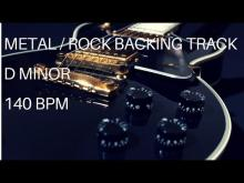 Embedded thumbnail for Metal / Rock Guitar Backing Track | D Minor (140 Bpm)
