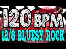 Embedded thumbnail for 120 BPM - Blues Rock Shuffle #1  - 12/8 Drum Track - Metronome - Drum Beat