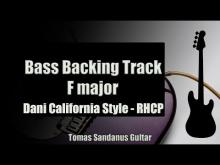 Embedded thumbnail for Bass Backing Track F major - Dani California Style Red Hot Chili Peppers - NO BASS