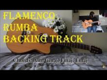 Embedded thumbnail for Rumba flamenco backing track Am, Gmaj, Fmaj, Emaj