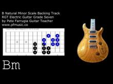 Embedded thumbnail for Guitar Backing Track B Natural Minor Scale - Grade Seven