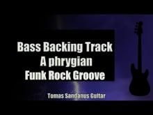 Embedded thumbnail for Bass Backing Track - A phrygian - Funk Rock Groove - NO BASS - Chords - Scale - BPM