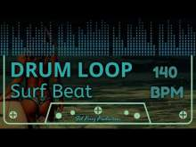 Embedded thumbnail for SURF BEAT - DRUM LOOP 140 BPM (Backing Track Bateria)