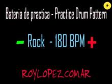 Embedded thumbnail for Bateria de practica / Practice Drum Pattern - Rock - 180 BPM