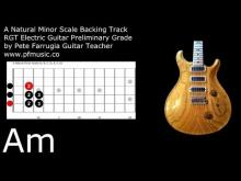 Embedded thumbnail for Guitar Backing Track A Natural Minor Scale