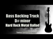 Embedded thumbnail for Bass Backing Track D# minor - Hard Rock Metal Ballad - NO BASS - Chords - Scale - BPM