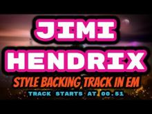 Embedded thumbnail for JIMI HENDRIX style Backing Track in Em