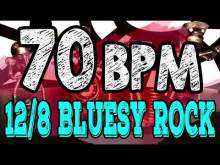 Embedded thumbnail for 70 BPM - Blues Rock Shuffle #1  - 12/8 Drum Track - Metronome - Drum Beat