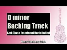 Embedded thumbnail for Backing Track in D Minor Emotional Pop Rock Ballad with Chords and D Minor Pentatonic Scale