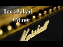 Embedded thumbnail for Extended Rock Ballad Guitar Backing Track in A Minor (84 bpm)