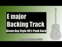 Embedded thumbnail for E major Backing Track - Green Day Style 90's Punk Rock