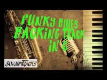 Embedded thumbnail for Funky blues backing track - C Major