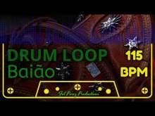 Embedded thumbnail for BAIÃO - DRUM LOOP 115 BPM (Brazilian Rhythm)