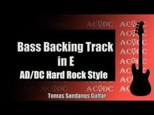 Embedded thumbnail for Bass Backing Track | E minor | AC/DC Style Hard Rock '80s | NO BASS | Chords | Scale | BPM