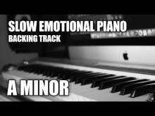 Embedded thumbnail for Slow Emotional Piano Backing Track In A Minor