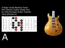 Embedded thumbnail for Guitar Backing Track A Major Scale