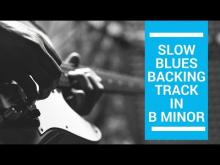 Embedded thumbnail for Blues Backing Track in B MINOR