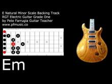 Embedded thumbnail for Guitar Backing Track E Natural Minor Scale
