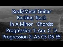 Embedded thumbnail for Rock/Metal Guitar Backing Track In A Minor