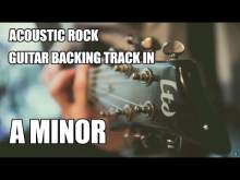 Embedded thumbnail for Acoustic Rock Guitar Backing Track In A Minor